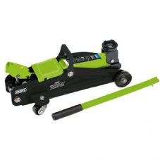 Draper 54636 Light Floor Trolley Jack in Carry Case 2 Tonne - Green